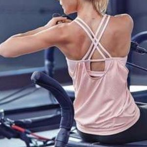 Athleta Hidden Agenda Pink Tank, Built in Bra XS